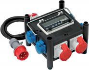 Brennenstuhl Kompakter Gummi-Stromverteiler / Gummiverteiler mit zertifiziertem Sicherungsautomaten (2m Kabel, 2xCEE 400V/16A, 1x CEE 400V/32A, 4x 230V/16A